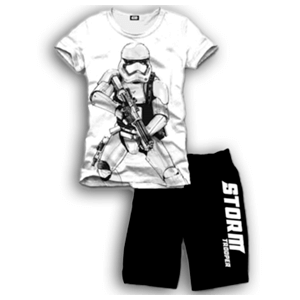 Pijama Corto 2 Piezas Star Wars Stormtrooper M