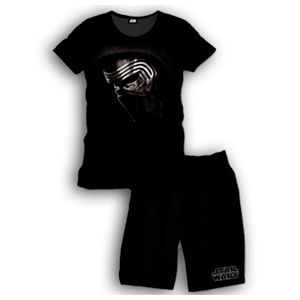 Pijama Corto 2 Piezas Star Wars Kylo Ren Face M