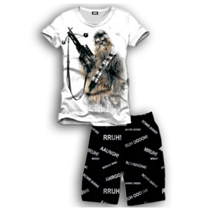 Pijama Corto 2 Piezas Star Wars Kylo Chewbacca M