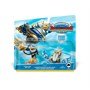 Pack Dual 2 Skylanders Superchargers Driver + Vehiculo (Hurricane Jet Vac, Jet Stream)