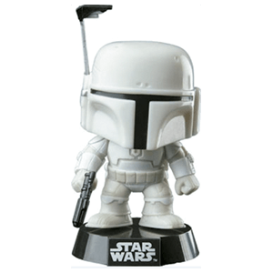 Figura Pop Star Wars Boba Fett Blanco