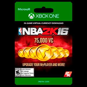 NBA 2K16 75,000 VC Xbox One