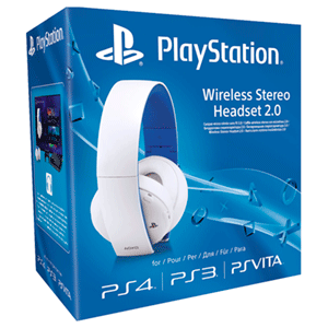 Auriculares Wireless Estereo SONY White PS4/PS3/PSV