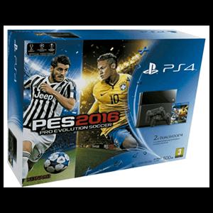 Playstation 4 500Gb + Pro Evolution Soccer 2016 + 2 DualShock 4