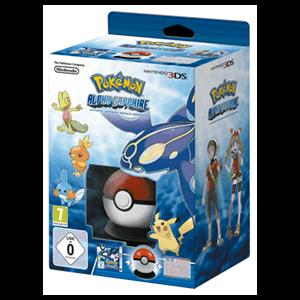 3DS Pokémon Alfa Zafiro + Pokéball + Poster