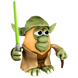 Muñeco Mr. Potato Yoda