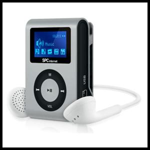 Reproductor MP3 SPC Sport Clip Plata