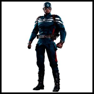 Estatua Marvel Capitán America Stealth Suit 30cm