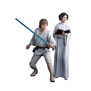 Set Estatuas Star Wars Luke Skywalker y Leia