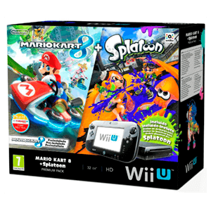 Wii U Premium 32Gb + Mario Kart 8 + Splatoon