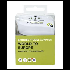 Adaptador Viaje para Europa Q2Power