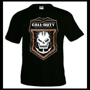 Camiseta CoD BOIII: Skull Logo Talla XL