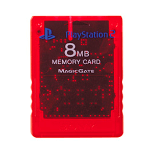 Memory Card Sony 8Mb Crimson Red