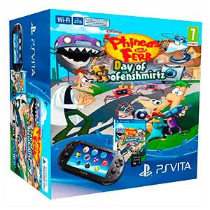 Ps Vita + Phineas & Ferb DoD+ Tarjeta de memoria 8GB