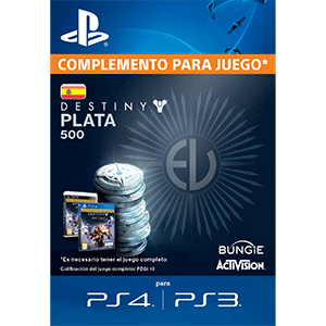 500 Destiny Silver PS4