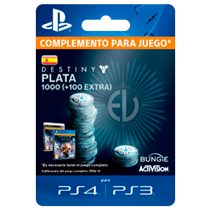 1000 + 100 Bonus Destiny Silver PS4