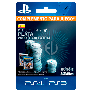 2000 + 300 Bonus Destiny Silver PS4