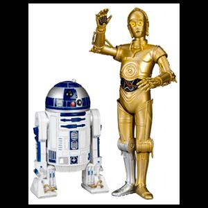 Set 2 Figuras C-3PO 17cms y R2-D2 10cms