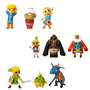 Pack de 3 Microfiguras Zelda 2cm Serie 4 (Surtido)