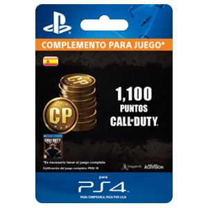 1,000 +100 Bonus Call of Duty Points PS4