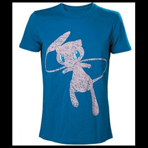 Camiseta Azul Pokemon: Mew Talla L