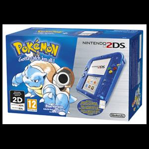 Nintendo 2DS Transparente Azul + Pokemon Azul (Preinstalado)