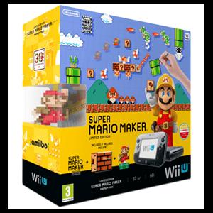 Wii U Premium 32Gb + Mario Maker (Preinstalado) + Artbook + Amiibo Mario