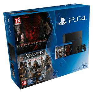 Playstation 4 500Gb + Assassin's Creed Syndicate + MGS V Phantom Pain