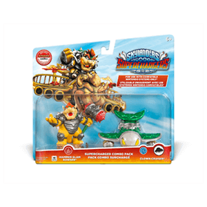 Pack Dual Skylanders SuperChargers Nintendo Hammer Slam Bowser + Clown Cruiser