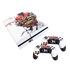Skin para Playstation 4 y 2 Controllers Street Fighter V