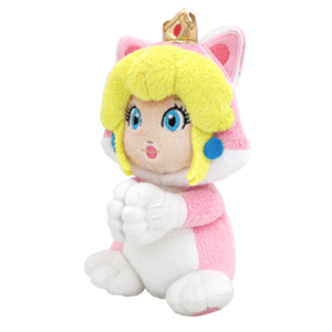 Peluche Super Mario: Cat Peach con Manos Magnéticas 19cms