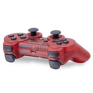 Controller Sony Dualshock 3 Rojo Transparente