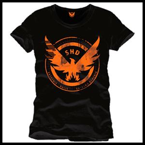 Camiseta The Division Negra SHD Logo Talla S