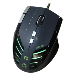 Keep Out X8 Gaming 6000 Dpi LED Verde - Ratón Gaming