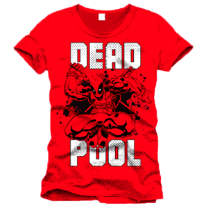 Camiseta Deadpool Jumping Talla M