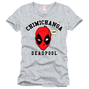 Camiseta Deadpool Chimichanga Gris Talla M