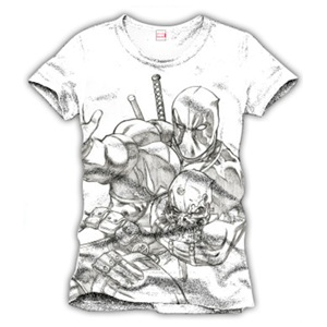 Camiseta Deadpool Running Blanca Talla L