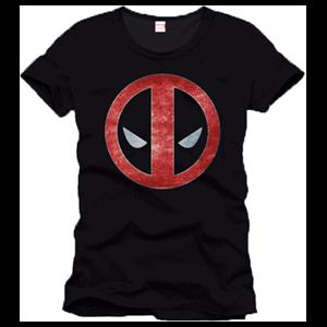 Camiseta Deadpool Logo Negra Talla S