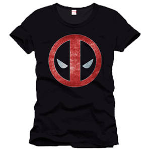 Camiseta Deadpool Logo Negra Talla M