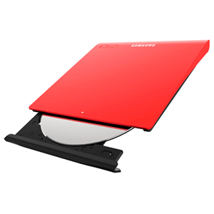 Samsung Dvd Rw Se-208Gb Usb Slim Red