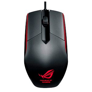 ASUS ROG Sica Black 5000 DPI LED Rojo - Ratón Gaming