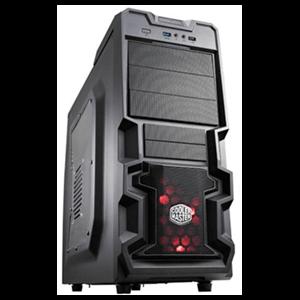 Cooler Master K380 Negra LED Rojo - Ventana - ATX Mid Tower