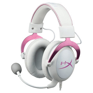 HyperX Cloud II Gaming Headset Blanco-Rosa