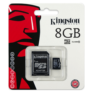 Kingston SDHC 8Gb + Adaptador Clase 10