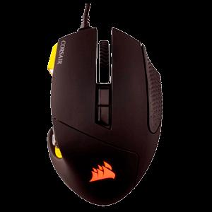Corsair Scimitar Rgb Negro Amarillo