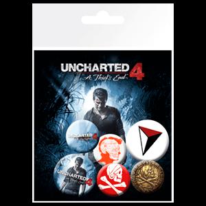 Pack de Chapas Uncharted 4