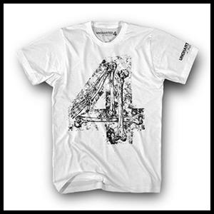 Camiseta Uncharted 4 Blanca Bones Four Talla S