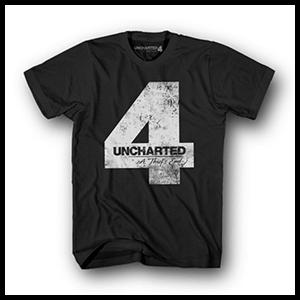 Camiseta Uncharted 4 Negra Four Talla S