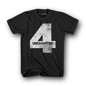 Camiseta Uncharted 4 Negra Four Talla L