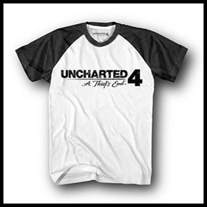 Camiseta Uncharted 4 Logo Talla S